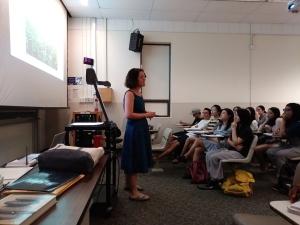 Laura Teaching Class Photo